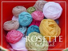rolled fabric rosettes