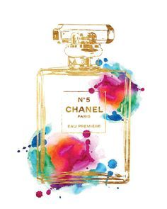 Printed Poster Chanel No 5 Rainbow with gold effect by hellomrmoon