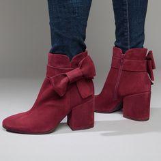 Size 41 please! 😍 Summit Shoes Stevie Burgundy Italian Suede Bootie