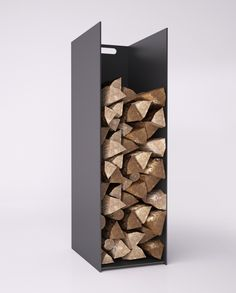 WALLS wood stand in a minimalist and modern style by NOBO DESIGN