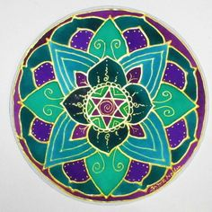 Heart Chakra Mandala,mandala art, chakra art, reiki art, new age, metaphysical, meditation art, spiritual art