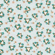 Triangles on aqua 30s repro