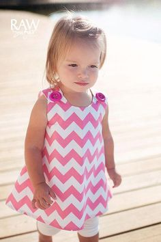 Pink Chevron  Toddler Dress  Pink  Modern by KKchildrendesigns, $36.00