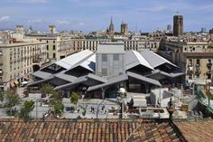 Zinc prepatinado en la nueva cubierta del Mercado de la Boquería del Estudio Carme Pinós | TECTÓNICAblog