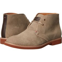 Tommy Hilfiger Sten (Taupe) Men's Lace-up Boots (6090 RSD) ❤ liked on Polyvore featuring men's fashion, men's shoes, men's boots, taupe, mens round toe cowboy boots, tommy hilfiger mens boots, mens shoes, tommy hilfiger mens shoes and mens lace up boots