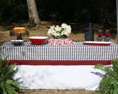 Houndstooth table cloth...why can't I sew?