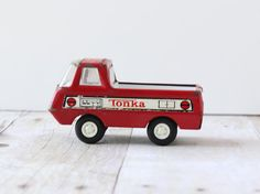 Vintage Small Red Tonka Pickup Truck