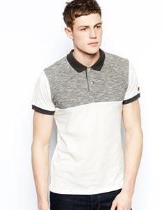Jack+&+Jones+Polo+Shirt+With+Space+Dye+Yoke