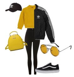 Untitled #4 by ariannaaaaaaaaaaaaa on Polyvore featuring polyvore, fashion, style, Comme Moi, adidas, Topshop, Vans, WithChic, Spitfire and clothing
