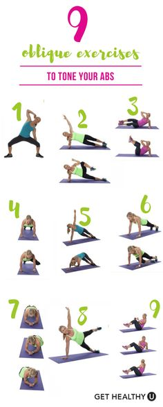 Check out our 9 oblique exercises to tone those abs!