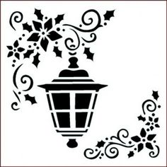 Hanging Lantern Christmas Stencils, Christmas Crafts, Xmas, Christmas Table Centerpieces, Christmas Decorations, Silhouette Portrait, Silhouette Cameo, Tag Image, Hanging Lanterns