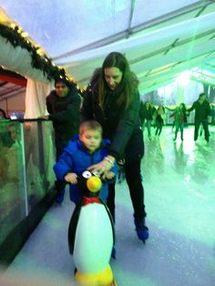 Penguin skating aids for kids, available to hire at Windsor On Ice Ice Rink, Windsor Castle, River Thames, Ice Skating, Penguins, Skate, Party, Kids, Young Children