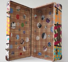 Mexican Suitcase no 7 by Guillermo Aguilar-Huerta; You'd never have a hard time finding your luggage at the airport with a case like this one! Rise Art, Magazine Art, Limited Edition Prints, Art Blog, New Art, Advent Calendar, Original Art, Finding Yourself, Holiday Decor
