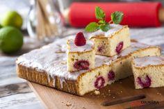 Qual o bolo mais fresco deste verão? É este de certeza! O limão e as framboesas combinam com o calor que se sente.
