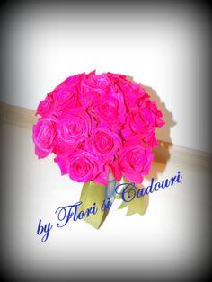 Buchet de mireasa din trandafiri