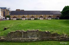 The remains of King Henry III's moated manor house on the Thames in Rotherhithe, London