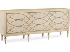 John Richard Two Tone 84 x 18 with Silver Nail Heads Credenza