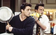 Oh my gosh! It makes since for joey to have a pan, but Chandler? THAT IS SO FUNNY!!!!!!!