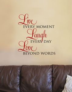 Live Laugh Love Wall Art | Live Laugh Love Vinyl Wall Art Decal | For The