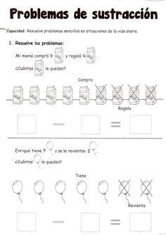 Problemas de sustracción: 5 años - Material de AprendizajeMaterial de Aprendizaje