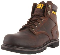 Coturno Caterpillar Cat Men's Second Shift Work Boot Dark Brown Caterpillar Boots, Men's Shoes, Shoe Boots, Good Work Boots, Shift Work, Yellow Boots, Goodyear Welt, Dress With Boots, Dark Brown Leather