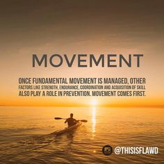 Movement comes first.  This quote is from the book: Movement by Gray Cook (@functionalmvmt)  We should not proceed in movements before we have established a good baseline - easier said than done.  How can we know? The screening process will help us understand where we are and what to work on. Simple and elegant.  Movement without pain is health. And that is one of the reasons why we focus so much on training movement in the FLAWD podcast. It's hard to focus without health and you are never…