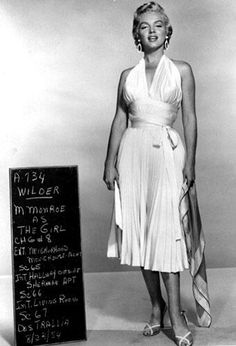 Wardrobe test shot for The Seven Year Itch