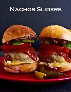 Nine Layer Nacho Sliders ~ From Not Quite Nigella