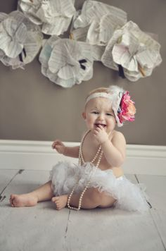 One Year Session - Flower headband - Photography - Photography Props  Chelsea Marlene Photography