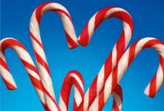 Heart Shaped Candy Canes photographed by Kaushal Kumar - India - Love - FairMail - Holiday Fair Trade Cards - FDP6053