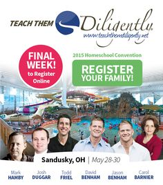 $10 Off Teach Them Diligently Registration & Last Week to Register!  (Sandusky, OH) @ttdiligently #ad