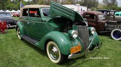 1936 Ford Convertible Sedan at Steve McQueen Car and Motorcycle Show 2015 http://www.specialcarstore.com/content/steve-mcqueen-inaugural-car-rally