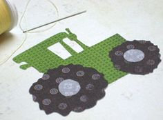 Tractor Applique Pattern | Tractor PDF Applique Template by StitchinOnTheEdge on Etsy