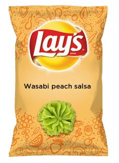 Wouldn't Wasabi peach salsa be yummy as a chip? Lay's Do Us A Flavor is back, and the search is on for the yummiest chip idea. Create one using your favorite flavors from around the country and you could win $1 million! https://www.dousaflavor.com See Rules.