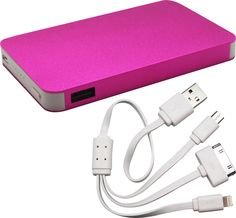 Slim Executive 4000mAh Power Bank Suppliers in Johannesburg, Cape Town - Pink Power Bank Charger #powerbank #charger #pink