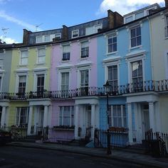 Where to dins London's colourful streets: all the colours of the rainbow.