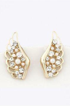 Sweet Diamond Stud wings personality Earrings _Earrings_ACCESSORIES_Voguec Shop