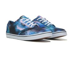 When you need a pair of skate shoes that help you do the latest tricks, check out the Atwood sneakers by Vans.Canvas upper in an athletic skate shoe styleLace-up front, metal eyeletsPadded collarTextile lining, padded insoleGrippy rubber outsole