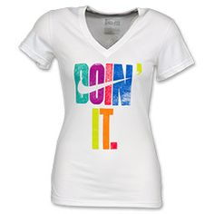 Nike Doin It Women's V-Neck Tee Shirt.  @Heather Bowden wouldn't this be a great color run shirt?