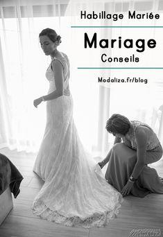 Habillage de la mariee conseils mariage robe details coiffure maquillage mariée sur le blog modaliza photographe - robe rosa clara