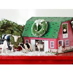 Holiday Decorating Ideas - Country Christmas Decorations - Country Living- Dress Up A Barn