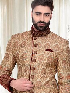 multi-silk-fabric-cream-indowestern-in155