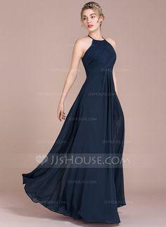 A-Line/Princess Scoop Neck Floor-Length Ruffle Zipper Up Sleeveless >=80 >=100 <=150 No Dark Navy Winter Spring Summer Fall General Plus Chiffon Height:5.7ft Bust:33in Waist:24in Hips:34in US 2 / UK 6 / EU 32 Evening Dress