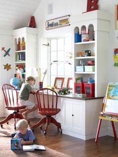 900 sq ft addition - Kids desk