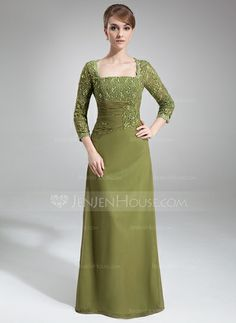 Mother+of+the+Bride+Dresses+-+$140.49+-+Sheath+Square+Neckline+Floor-Length+Chiffon+Mother+of+the+Bride+Dress+With+Lace+Beading+Sequins+(008006049)+http://jenjenhouse.com/Sheath-Square-Neckline-Floor-Length-Chiffon-Mother-Of-The-Bride-Dress-With-Lace-Beading-Sequins-008006049-g6049