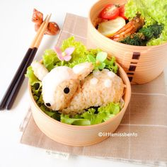 Deer bento Ok, so I couldn't eat even if I took the time to make it, but it is adorable!