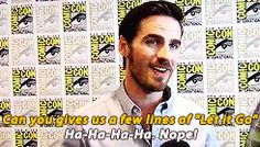 Colin O'Donoghue I LOVE YOU!!!!!!!!!!!! I'M TIRED OF THE SONG TOO!!!!!!!!!!