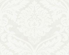 Livingwalls Vliestapete Simply White 2, metallic, weiss, 10,05 m x 0,53 m, 554338, 5543-38