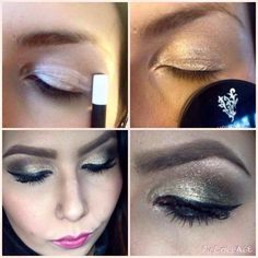 Make-up Tip using Younique... Creating a great sparkling smokey eye effect x