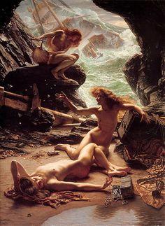 Edward John Poynter - The Cave of the Storm Nymphs [1903]